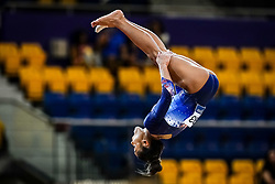 October 28, 2018 - Doha, Quatar - Melanie Jesus De Dos Santos of  France   during  Floor qualification at the Aspire Dome in Doha, Qatar, Artistic FIG Gymnastics World Championships on 28 of October 2018. (Credit Image: © Ulrik Pedersen/NurPhoto via ZUMA Press)