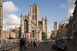 """The famous """"Three Towers of Ghent""""  in Ghent, Belgium, on Friday, Sept. 12, 2008. (Photo © Jock Fistick)"""