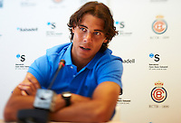 BARCELONA, SPAIN - APRIL 18: Rafael Nadal of Spain during The ATP 500 World Tour Barcelona Open Banco Sabadell 2011 tennis tournament at the Real Club de Tenis on April 18, 2011 in Barcelona, Spain. (Photo by Manuel Queimadelos Alonso)