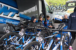 Team WNT riders prepare for Stage 4 of the OVO Energy Women's Tour - a 123 km road race, starting and finishing in Chesterfield on June 10, 2017, in Derbyshire, United Kingdom. (Photo by Balint Hamvas/Velofocus.com)