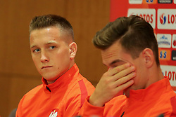 August 31, 2017 - Copenhagen, Denmark - Piotr Zielinski and Arkadiusz Milik of Poland, during press conference before FIFA World Cup 2018 qualifier MD-1 between Denmark and Poland at Parken Stadium in Copenhagen, Denmark on 31 August 2017. (Credit Image: © Foto Olimpik/NurPhoto via ZUMA Press)