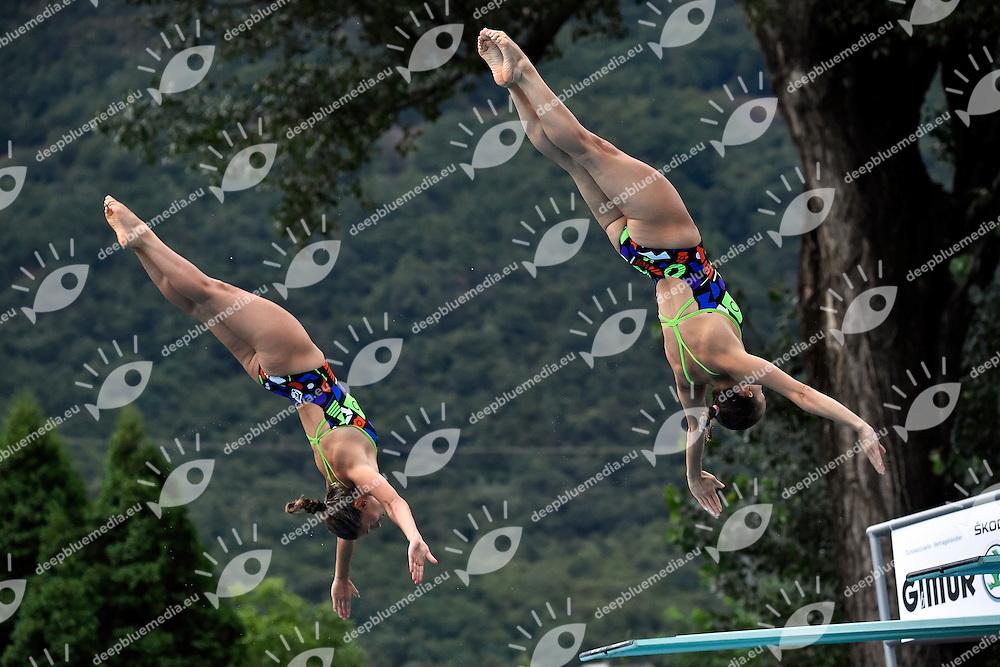 Francesca Dallape', Tania Cagnotto ITA <br /> Synchronized Springboard 3m Women Final - Trampolino 3m Sincro Finale <br /> Bolzano 01-08-2014 <br /> 20 Fina Diving Grand Prix <br /> Photo Andrea Staccioli/Insidefoto/Deepbluemedia