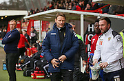 Teddy Sheringham manager of Stevenage during the Sky Bet League 2 match between Crawley Town and Stevenage at the Checkatrade.com Stadium, Crawley, England on 26 December 2015. Photo by Phil Duncan.