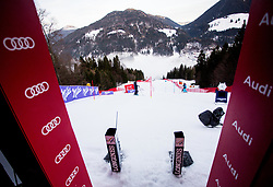 "Start box prior to the 1st Run of the FIS Alpine Ski World Cup 2017/18 7th Ladies' Slalom race named ""Golden Fox 2018"", on January 7, 2018 in Podkoren, Kranjska Gora, Slovenia. Photo by Ziga Zupan / Sportida"
