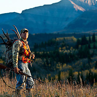 colorful fall aspens hunting backpack ridge hike rocky mountains trophy deer