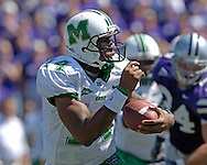 Marshall quarterback Bernard Morris against Kansas State at Bill Snyder Family Stadium in Manhattan, Kansas, September 16, 2006.  The Wildcats beat the Thundering Herd 23-7.