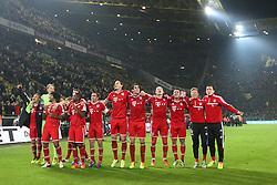23.11.2013, Signal Iduna Park, Dortmund, GER, 1. FBL, Borussia Dortmund vs FC Bayern Muenchen, 13. Runde, im Bild Muenchner Freude vor der Fankurve nach dem 3:0 Sieg gegen den BVB // during the German Bundesliga 13th round match between Borussia Dortmund and FC Bayern Munich at the Signal Iduna Park in Dortmund, Germany on 2013/11/23. EXPA Pictures © 2013, PhotoCredit: EXPA/ Eibner-Pressefoto/ Schueler<br /> <br /> *****ATTENTION - OUT of GER*****