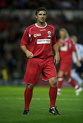 DERBY, ENGLAND - Thursday, September 8, 2011: Wales Legends' and national team manager Gary Speed MBE in action against England Legends during a legends match at Pride Park. (Pic by David Rawcliffe/Propaganda)