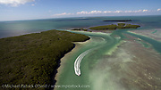Aerial photograph of Islamorada in the Florida Keys.