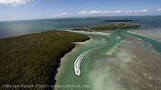 Aerial photograph of Islamorada in the Florida Keys.