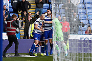 Reading players celebrate their goal, scored by Matt Miazga (5) of Reading during the EFL Sky Bet Championship match between Reading and Preston North End at the Madejski Stadium, Reading, England on 19 October 2019.