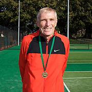 Kingdon Van Nostrand, USA, 75 Mens Singles Winner during the 2009 ITF Super-Seniors World Team and Individual Championships at Perth, Western Australia, between 2-15th November, 2009.