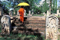 Sri Lanka - Anuradhapura - Moine bouddhiste