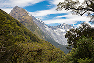 Mountains on the Routeburn Track, South Island, New Zealand