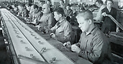 Blind workers on a production line, Germany c1925.