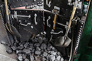 Tools of the trade. Coal and shovels at the ready on the Cumbres & Toltec.