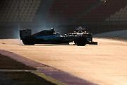 February 19-22, 2015: Formula 1 Pre-season testing Barcelona : Pascal<br /> Wehrlein spins in the Mercedes