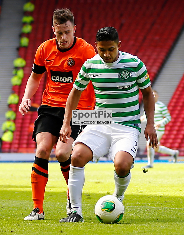 Dundee United v Celtic Scottish Cup Semi Final..Emilio Izaguirre and Keith Watson.....(c) STEPHEN LAWSON | StockPix.eu