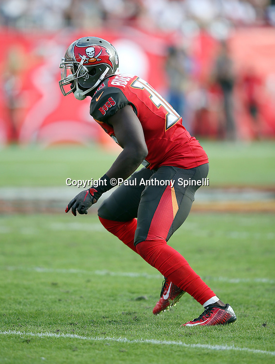 Tampa Bay Buccaneers cornerback Jude Adjei-Barimah (38) chases the action during the 2015 week 14 regular season NFL football game against the New Orleans Saints on Sunday, Dec. 13, 2015 in Tampa, Fla. The Saints won the game 24-17. (©Paul Anthony Spinelli)