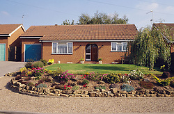 Detached house and front garden,