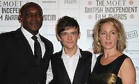 George Sampson The Moet British Independent Film Awards, Old Billingsgate Market, London, UK, 05 December 2010:  Contact: Ian@Piqtured.com +44(0)791 626 2580 (Picture by Richard Goldschmidt)