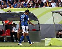 Foto Omega/Colombo<br /> 26/06/2006 Campionati Mondiali di Calcio 2006<br /> Ottavi di Finale <br /> Italia -Australia  <br /> nella foto : Marco Materazzi esce dal campo espulso