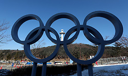 The Olympic Rings during a preview day at the Alpensia Sports Park, ahead of the PyeongChang 2018 Winter Olympic Games in South Korea.