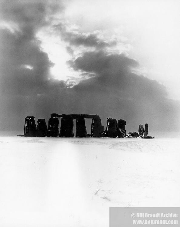 Stonehenge in the snow