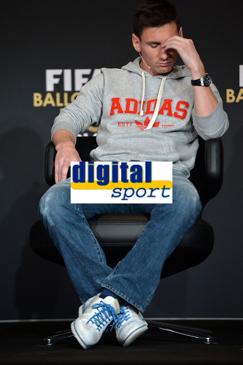Zuerich, 12.1.2015, FIFA Ballon d'Or 2014, Lionel Messi (ARG) an der FIFA Ballon d`Or Gala 2014. (Melanie Duchene/EQ Images)