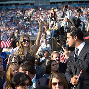 Entertainer Fergie and actor Wilmer Valderama on the fourth day of the Democratic National Committee (DNC) Convention at Invesco Field in Denver, Colorado (CO), Thursday, Aug. 28, 2008.  ..Photo by Khue Bui