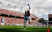 South Carolina Gamecocks wide receiver Alshon Jeffery (1) makes a one-handed catch for a touchdown in the fourth quarter of the Gamecocks game against Citadel at Williams-Brice Stadium, Saturday, November 19, 2011.