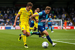 Sam Matthews of Bristol Rovers takes on Dominic Gape of Wycombe Wanderers - Mandatory by-line: Robbie Stephenson/JMP - 18/08/2018 - FOOTBALL - Adam's Park - High Wycombe, England - Wycombe Wanderers v Bristol Rovers - Sky Bet League One