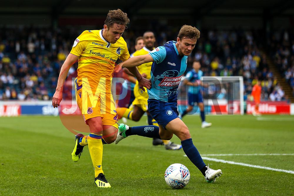 Sam Matthews of Bristol Rovers takes on Dominic Gape of Wycombe Wanderers - Mandatory by-line: Robbie Stephenson/JMP - 18/08/2018 - FOOTBALL - Adam's Park - High Wycombe, England - Wycombe Wanderers v Bristol Rovers - Sky Bet League One