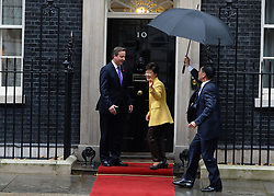 President of Korea meets Prime Minister David Cameron at 10 Downing Street, London, United Kingdom. Wednesday, 6th November 2013. Picture by Andrew Parsons / i-Images