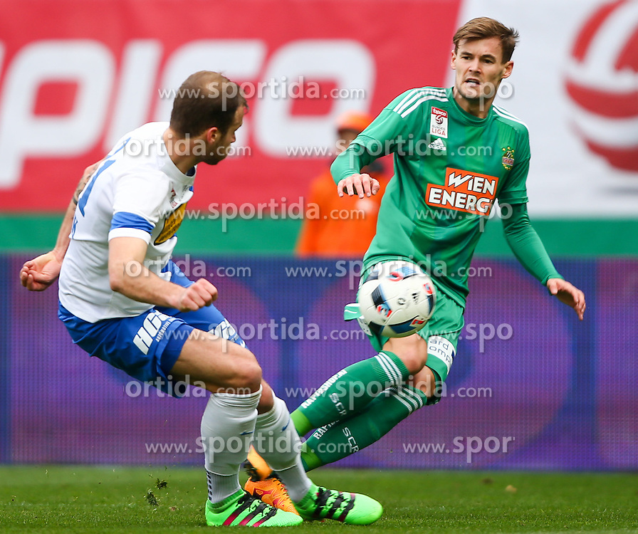 28.02.2016, Ernst Happel Stadion, Wien, AUT, 1. FBL, SK Rapid Wien vs SV Groedig, 24. Runde, im Bild Pascal Itter (SV Groedig) und Stefan Stangl (SK Rapid Wien) // during a Austrian Football Bundesliga Match, 24th Round, between SK Rapid Vienna and SV Groedig at the Ernst Happel Stadion, Vienna, Austria on 2016/02/28. EXPA Pictures © 2016, PhotoCredit: EXPA/ Thomas Haumer
