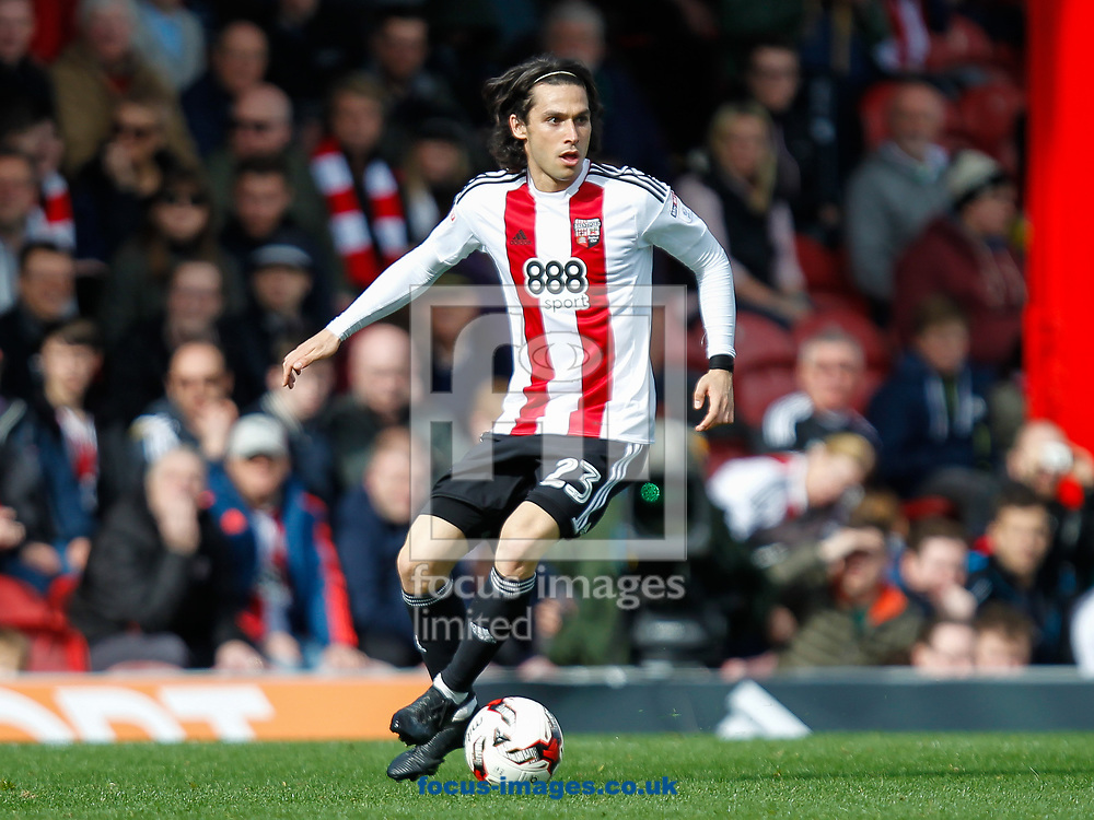 Jota of Brentford during the Sky Bet Championship match between Brentford and Bristol City at Griffin Park, London<br /> Picture by Mark D Fuller/Focus Images Ltd +44 7774 216216<br /> 01/04/2017