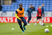 Paul Osew of Wimbledon  warming up during the EFL Sky Bet League 1 match between Bolton Wanderers and AFC Wimbledon at the University of  Bolton Stadium, Bolton, England on 7 December 2019.