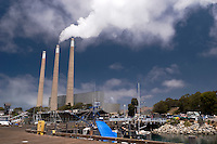 Power Plant and Waterfront Pier, Morro Bay, California