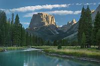 Squaretop Mountain and Green River, Bridger Wilderness, Wind River Range Wyoming