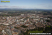 aerial photograph of Preston Lancashire , England UK
