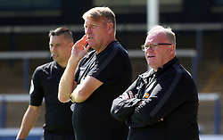 Peterborough United Manager Steve Evans and Assistant Manager Paul Raynor - Mandatory by-line: Joe Dent/JMP - 28/07/2018 - FOOTBALL - ABAX Stadium - Peterborough, England - Peterborough United v Bolton Wanderers - Pre-season friendly