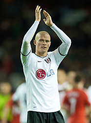 LIVERPOOL, ENGLAND - Saturday, November 22, 2008: Fulham's Paul Konchesky during the Premiership match at Anfield. (Photo by David Rawcliffe/Propaganda)
