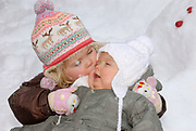 The winter sport photograph session of his royal highness the prince of oranje, her royal highness princess Máxima, her royal highness princess Catharina-Amalia and her royal highness princess Alexia during their holiday in Lech.<br /> <br /> <br /> De wintersportfotosessie van Zijne Koninklijke Hoogheid de Prins van Oranje, Hare Koninklijke Hoogheid Prinses Máxima, Hare Koninklijke Hoogheid Prinses Catharina-Amalia en Hare Koninklijke Hoogheid Prinses Alexia tijdens hun vakantie in Lech.<br /> <br /> Op de foto / On the Photo:<br /> <br /> <br /> <br /> Amalia en Alexia