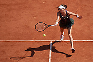 Paris, France - 2017 June 01: Agnieszka Radwanska from Poland plays a forehand during her women's single match second round during tennis Grand Slam tournament The French Open 2017 (also called Roland Garros) at Stade Roland Garros on June 01, 2017 in Paris, France.<br /> <br /> Mandatory credit:<br /> Photo by © Adam Nurkiewicz<br /> <br /> Adam Nurkiewicz declares that he has no rights to the image of people at the photographs of his authorship.<br /> <br /> Picture also available in RAW (NEF) or TIFF format on special request.<br /> <br /> Any editorial, commercial or promotional use requires written permission from the author of image.