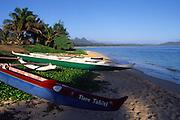 Outrigger Canoes, Waimanalo, Oahu, Hawaii<br />