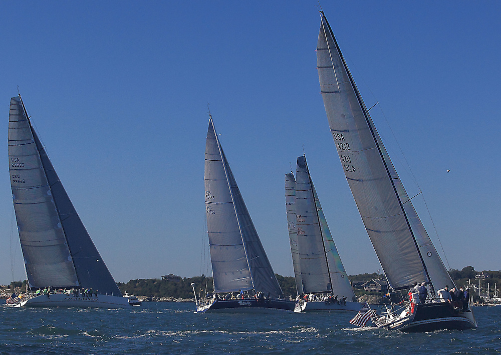 Big Boat start at the 9th Annual Sail for Hope event in Newport, RI.