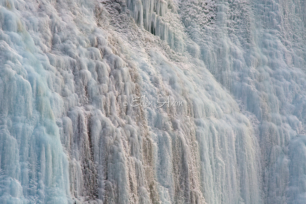 Frozen waterfall on Icefield Parkway, Alberta, Canada.