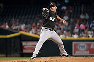 PHOENIX, AZ - MAY 24:  Jose Quintana #62 of the Chicago White Sox delivers a pitch in the first inning against the Arizona Diamondbacks at Chase Field on May 24, 2017 in Phoenix, Arizona. The Arizona Diamondbacks won 8-6.  (Photo by Jennifer Stewart/Getty Images)