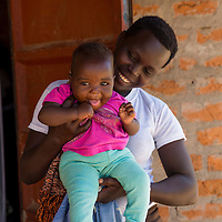 A mother and baby near Soroti, Uganda