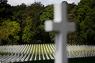 Graves are seen at the Lorraine American Military Cemetery, in Saint Avold, France. (Photo by Warrick Page/ABMC)